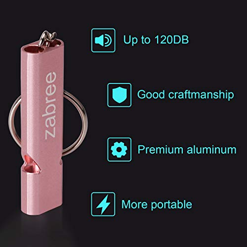 Aluminum Alloy Survival Whistles for Coaches