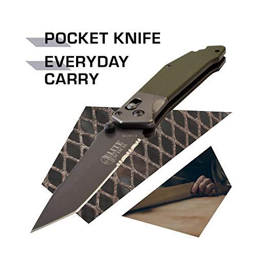 Elite Tactical  2 Elite Tactical Folding Knife - ET-1027GN