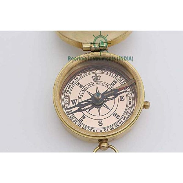 Roorkee Instruments India Survival Compass 2 Roorkee Instruments India Engraved Compass Directional Compass Personalized Gift for Camping, Hiking and Touring