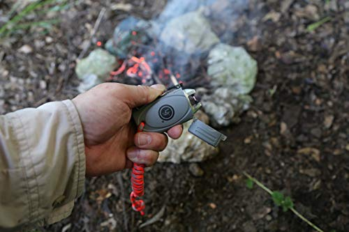 UST Survival Fire Starter 5 UST TekFire LED Fuel-Free Lighter with Convenient, Lightweight, Rugged Construction and Emergency Paracord Lanyard for Camping, Backpacking, Hiking and Outdoor Survival