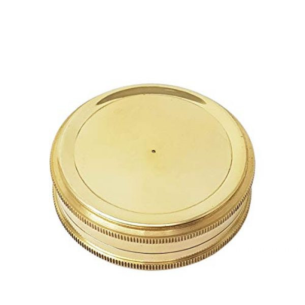 Brass Nautical Survival Compass 6 Brass Nautical - Go Confidently in The Direction of Your Dreams Thoreau's Quote Compass W/Case
