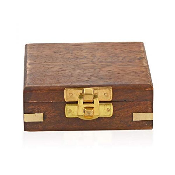 Shop LC Delivering Joy Survival Compass 4 Shop LC Delivering Joy Handcrafted Wooden Box with Built in Goldtone Compass Camping
