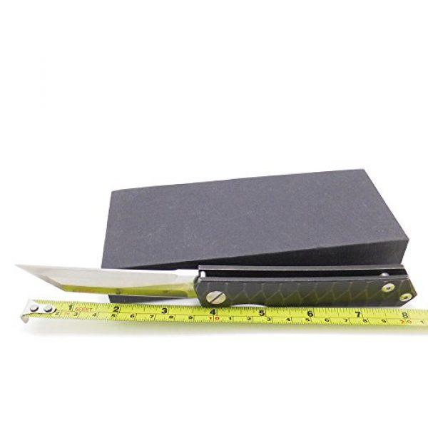 MASALONG Folding Survival Knife 3 MASALONG Survival Tactical Titanium Handle D2 Blade Pocket Hunting Outdoor Folding Knife (A2)