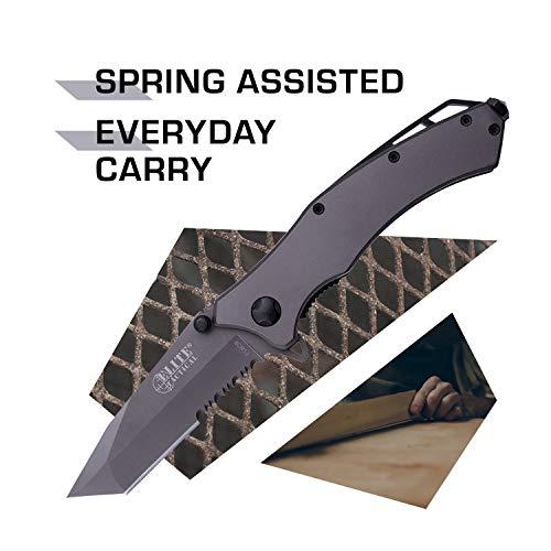 Elite Tactical  2 Elite Tactical Spring Assisted Knife - ET-A1020TS-SO