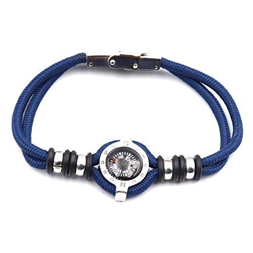 DETUCK  3 DETUCK(TM Compass Bracelet Working Navigation Compass Charm Detachable Bracelet Jewelry Gift Wrap
