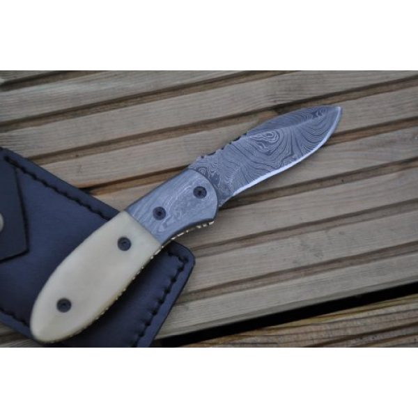 Perkin Folding Survival Knife 4 Perkin Knives - Handmade Damascus Pocket Knife - Beautiful Folding Knife