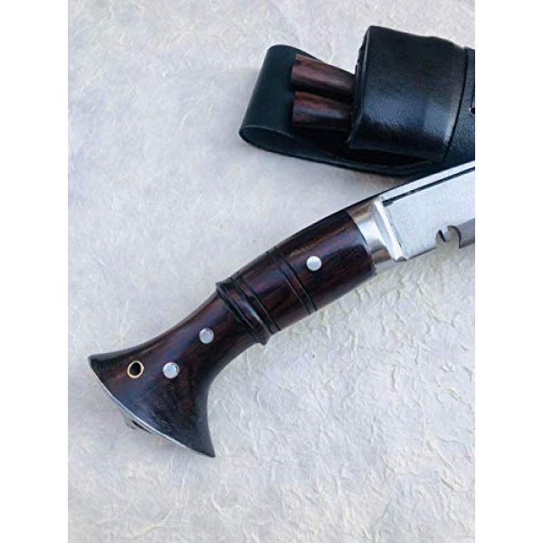 "GKH-Nepal Fixed Blade Survival Knife 3 Authentic Gurkha Knife - 12"" Blade World War II 'The Survival Alive' Kukri Full Tang with Black Leather Sheath-Handmade by Gurkha Kukri House(GKH) in Nepal -Warehoused & Ship from USA"