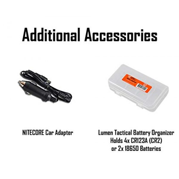 Nitecore Survival Flashlight 2 Nitecore MH40GTR Ultra Long Throw Rechargeable Hunting Flashlight Adapter LumenTac Battery Organizer