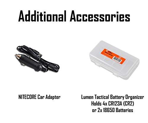 Nitecore  2 Nitecore MH40GTR Ultra Long Throw Rechargeable Hunting Flashlight Adapter LumenTac Battery Organizer