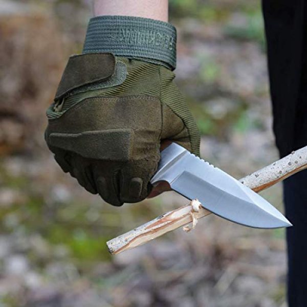 Mossy Oak Fixed Blade Survival Knife 5 MOSSY OAK Fixed Blade Hunting Knife Set 3-Piece, Wood Handle Straight Edge and Gut Hook Blades Game