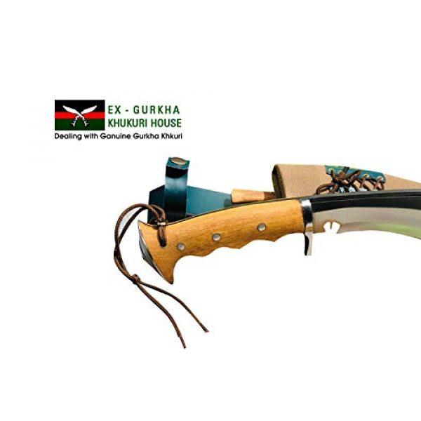 "EGKH. Fixed Blade Survival Knife 7 EGKH. Genuine Gurkha Hand Forged Kukri - 10"" Blade Authentic British Gurkha Iraqi Operation Gripper Blocker Handle Khukuri - By Ex Gurkha Khukuri House in Nepal"
