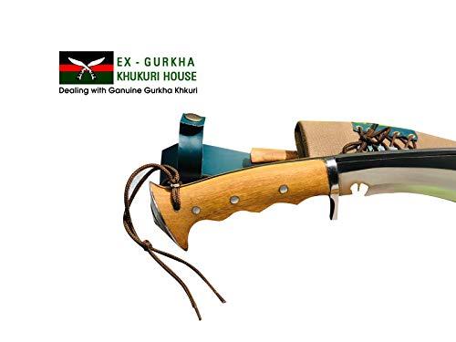 "EGKH.  7 EGKH. Genuine Gurkha Hand Forged Kukri - 10"" Blade Authentic British Gurkha Iraqi Operation Gripper Blocker Handle Khukuri - By Ex Gurkha Khukuri House in Nepal"