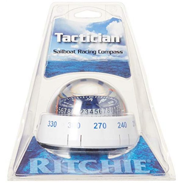 Ritchie Navigation Survival Compass 2 Ritchie Navigation XP-98W X-Port Tactician Surface Mount Compass, White with Blue Dial