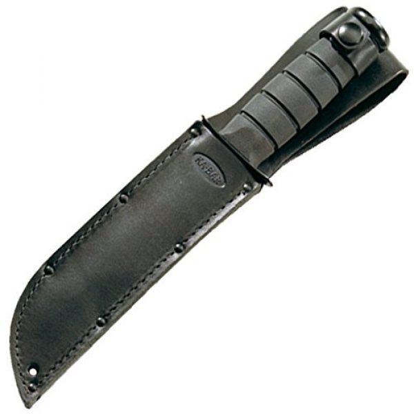 Ka-Bar Folding Survival Knife 2 KA-BAR Straight Edge Knife with Leather Sheath, Black, Short