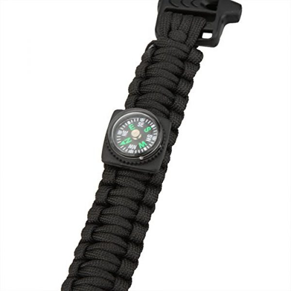 Leepesx Survival Paracord Bracelet 7 Leepesx Multi-Color Paracord Parachute Cord Emergency Kit Survival Bracelet Rope with Whistle Buckle Compass Flint Fire Starter Outdoor Camping