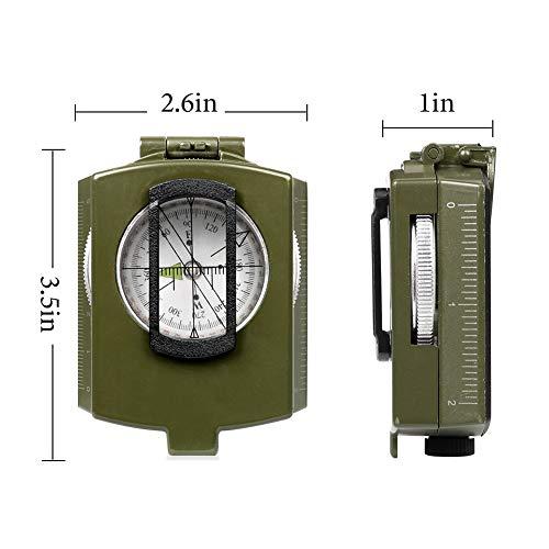YEHOBU Survival Compass 6 YEHOBU Hiking Compass, Military Compass, Multifunctional Lensatic Compass, Waterproof Navigation Compasses, Survival Emergency Luminous Sighting Compass