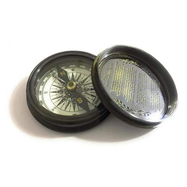 NauticalMart Survival Compass 2 Antique Pocket Compass- Marine Nautical Gift Compass w/ Leather Case