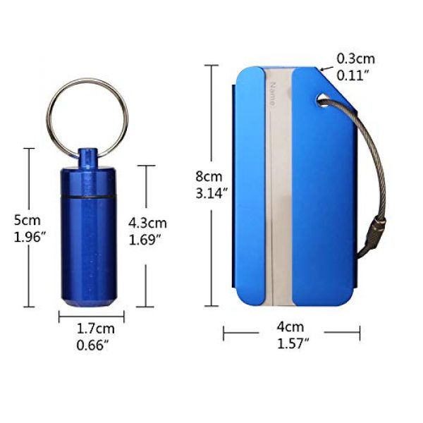 Timorn Survival Whistle 5 Cute Pill Organizer Emergency Whistle Luggage Tag Keychain, Timorn Waterproof Small Pill Box Dog tag Lifeguard Whistle Aluminum for Outdoor Travel Camping Hiking Boating Hunting Fishing