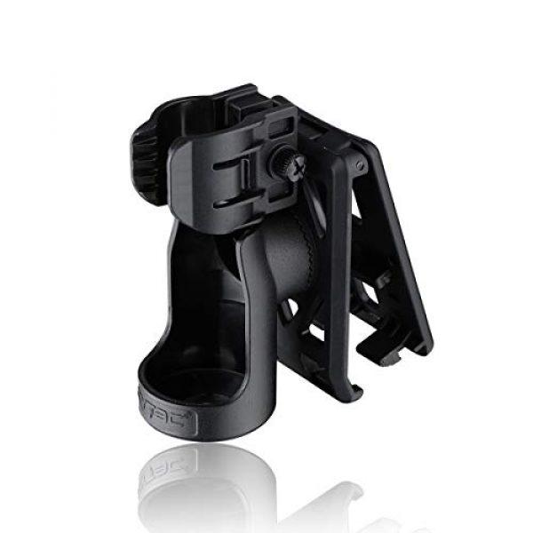 CYTAC Survival Flashlight 2 CYTAC Tactical Flashlight Holder, 360° Adjustable Flashlight Carrier for 1.14in Flashlight Head, Duty Belt Torch Pouch Flash Light Carrier -Black
