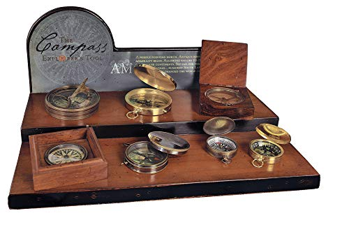 18th C. Sundial & Compass - Aged Finish in Hand-Buffed Duotone