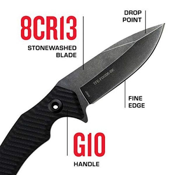 Tac Force Evolution Fixed Blade Survival Knife 3 Tac Force Evolution Fixed Blade Knife - TFE-FIX006-BK