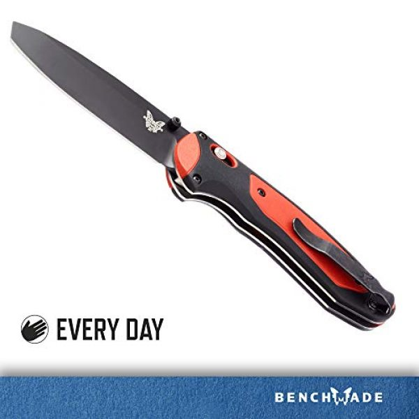 Benchmade Folding Survival Knife 2 Benchmade - Boost 591, EDC Folding Knife, Opposing Bevel Blade with Pry Tip, Manual Open, Axis Assist Mechanism, Made in USA