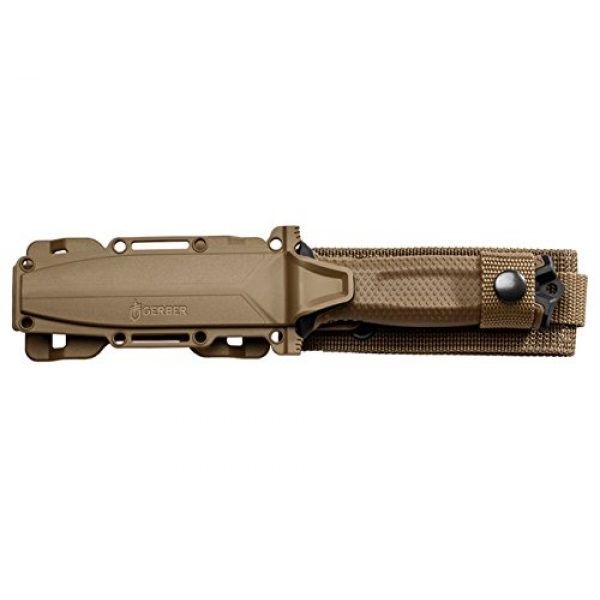 Gerber Gear Fixed Blade Survival Knife 3 Gerber StrongArm Fixed Blade Knife with Fine Edge - Coyote Brown