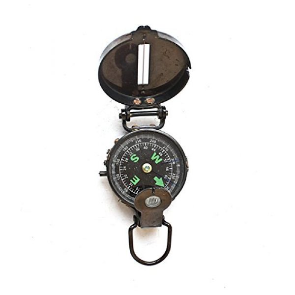 collectiblesBuy Survival Compass 3 Lensatic Compass Black Military Vintage Antique navigational Marine, 3 inches, Antique Brass