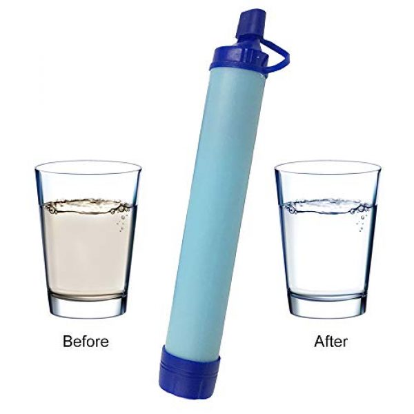 Puimentiua Survival Water Filter 6 Puimentiua Straw Filter, Straw Water Filter, Hiking Water Purifier, Camping Straw Filter for Backpacking, Drinking Water in Survival Situation