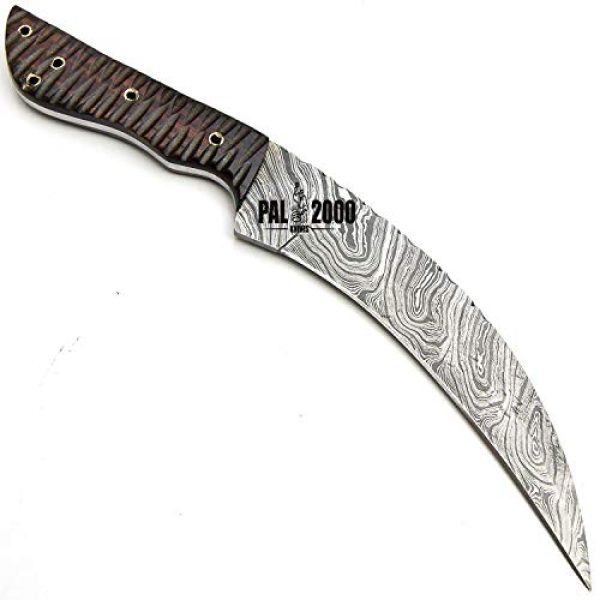PAL 2000 KNIVES Fixed Blade Survival Knife 5 SGJA-9350 Custom Handmade Damascus Steel Hunting Knife -Sword|Chef Kitchen Knife|Dagger|Full Tang|Skinner|Bowie|Axe|Billet|Cleaver|Bar|Folding Knife|Kukri|Knives|Survival|Camping with Sheath