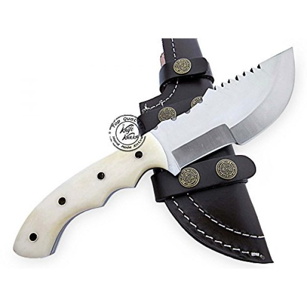 Knife Knation Fixed Blade Survival Knife 3 Beautiful Camel Bone Handmade D2 Steel Tracker Hunting Knife Prime Quality