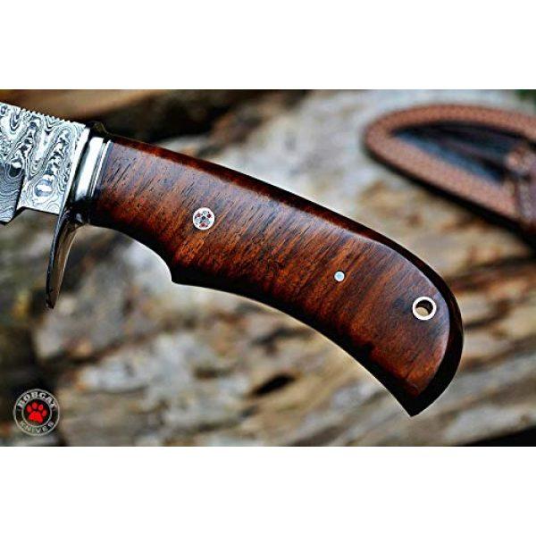 Bobcat Knives Fixed Blade Survival Knife 4 Bobcat Knives Custom Handmade Hunting Knife Bear Hunter Damascus Steel Overall 10''