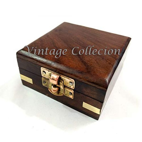 Marineantiques Survival Compass 4 Marineantiques Antique Nautical Brass Compass in Wooden Box