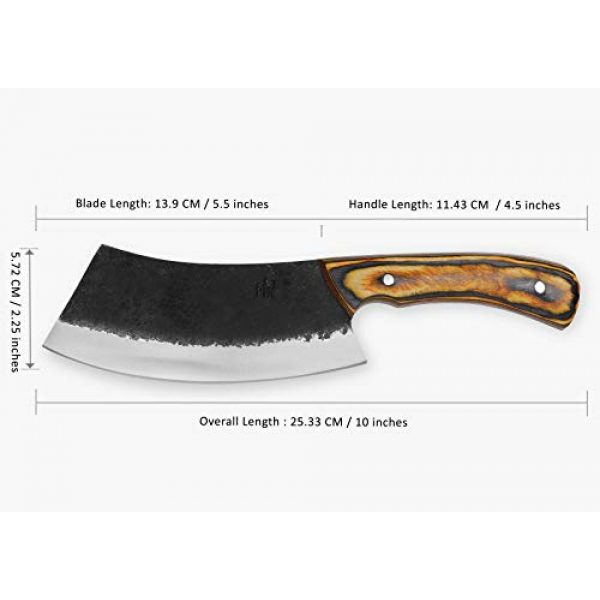Hobby Hut Fixed Blade Survival Knife 2 Hobby Hut HH-331 Custom Handmade 10 inches 1095 Carbon Steel Hunting Knife with Sheath, Fixed Blade Knife, Pakka Wood Handle Designed for Hunting Camping and Survival