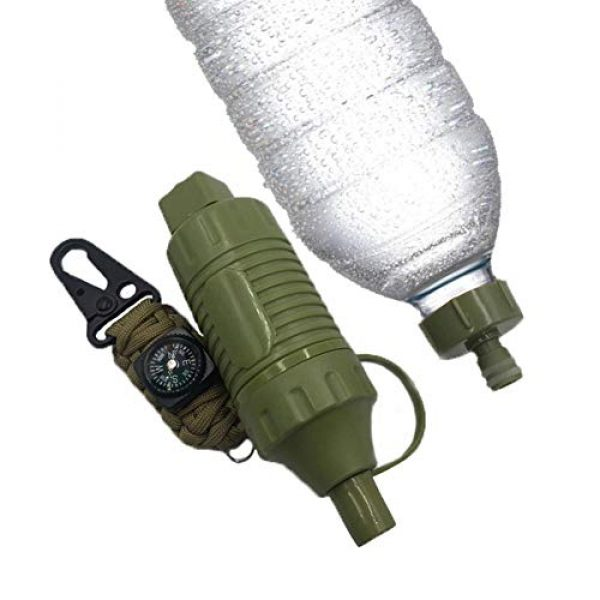 Sundlight Survival Water Filter 2 Sundlight Mini Camping Drinking Water Filter Straw Camping Water Purification Portable Water Filter Survival Kit for Camping, Hiking, Emergency, Hurricane