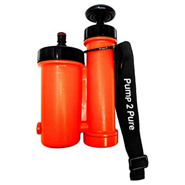 Seychelle Survival Water Filter 4 Seychelle Portable Water Filter Camping Pump - Outdoors, Hiking, Travel, Emergency Preparedness - Removes Bacteria, Viruses, Radiological Contaminants - Pocket Size