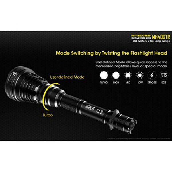 Nitecore Survival Flashlight 4 Nitecore MH40GTR Ultra Long Throw Rechargeable Hunting Flashlight Adapter LumenTac Battery Organizer
