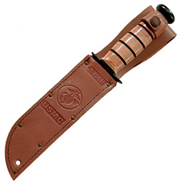 Ka-Bar Fixed Blade Survival Knife 2 KA-BAR Full Size US Marine Corps Fighting Knife, Straight