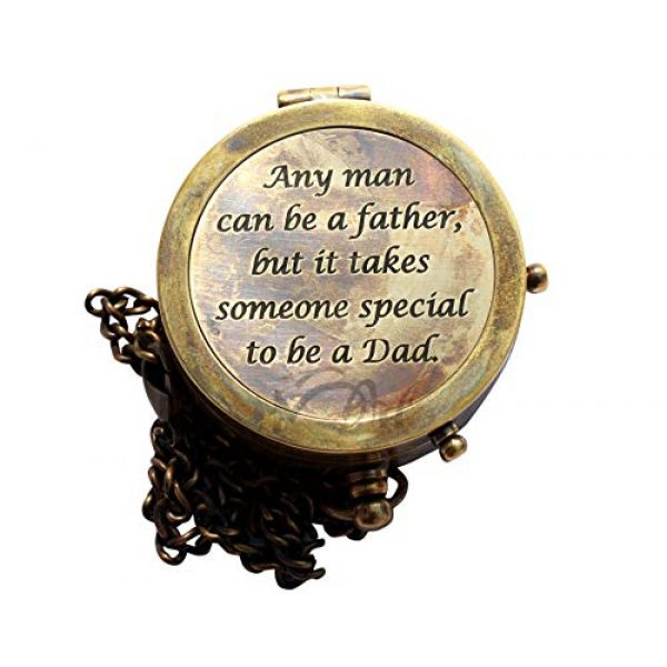 MAH Survival Compass 3 MAH Any Man Can be a Father , Camping Compass Engraved with Gift Compass C-3128