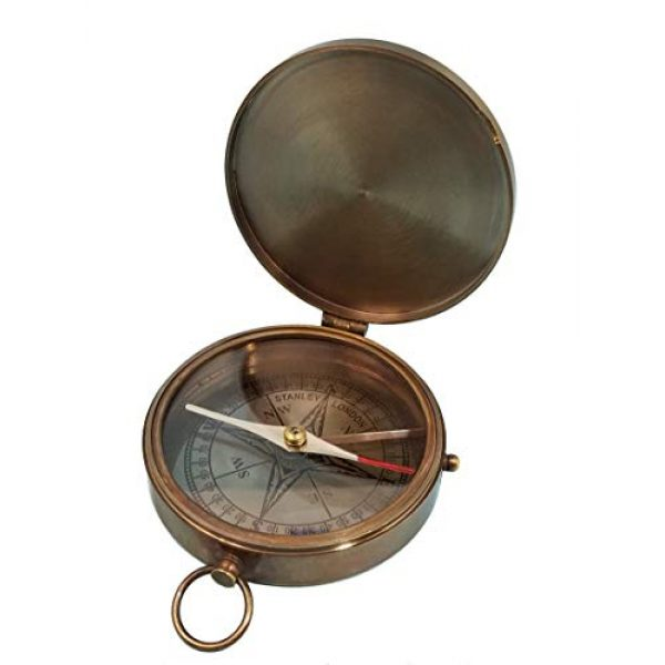 Stanley London Survival Compass 4 Stanley London Personalized Large Antique Pocket Compass Engraved with The Road Not Taken Poem by Robert Frost
