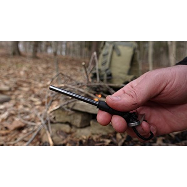 Schrade Survival Fire Starter 2 Schrade SCHFS1 4in Ferro Rod Fire Striker with Lanyard for Outdoor Survival, Camping and Emergency Situations
