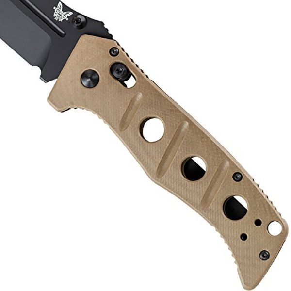 Benchmade Folding Survival Knife 7 Benchmad - Adamas 275 Drop Point Blade Knife, Made in The USA