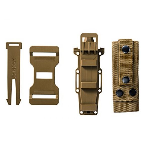 Gerber Gear Fixed Blade Survival Knife 6 Gerber StrongArm Fixed Blade Knife with Serrated Edge - Coyote Brown