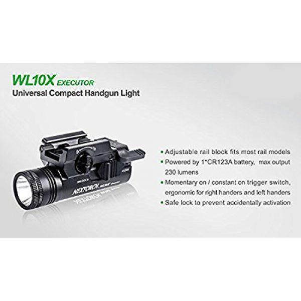 NEXTORCH Survival Flashlight 3 NEXTORCH 230 Lumen WL10X Executor Ultra Bright Lightweight LED Weapon Light, Attach Mount Upgraded