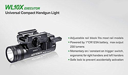 NEXTORCH  2 NEXTORCH 230 Lumen WL10X Executor Ultra Bright Lightweight LED Weapon Light