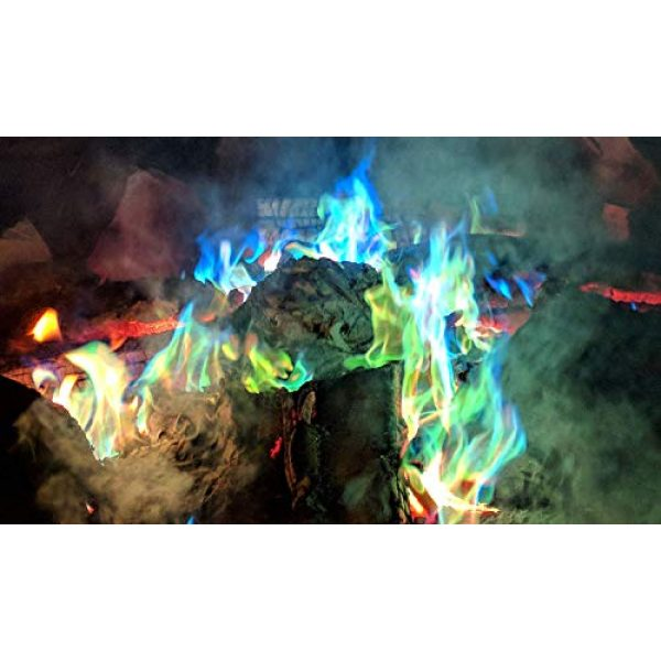 Mystical Fire Survival Fire Starter 6 Mystical Fire Flame Colorant Vibrant Long-Lasting Pulsating Flame Color Changer for Indoor or Outdoor Use 0.882 oz. Packets 2 Pack