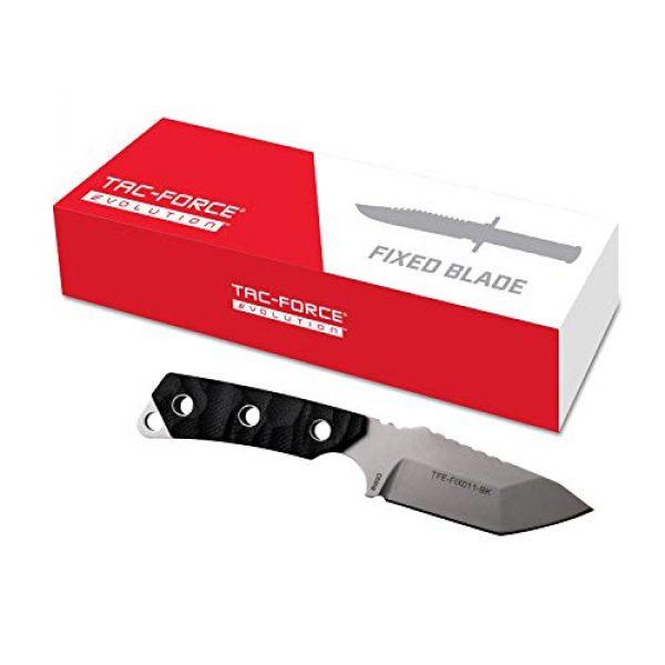 Tac Force Evolution Fixed Blade Survival Knife 7 Tac Force Evolution Fixed Blade Knife - TFE-FIX011-BK