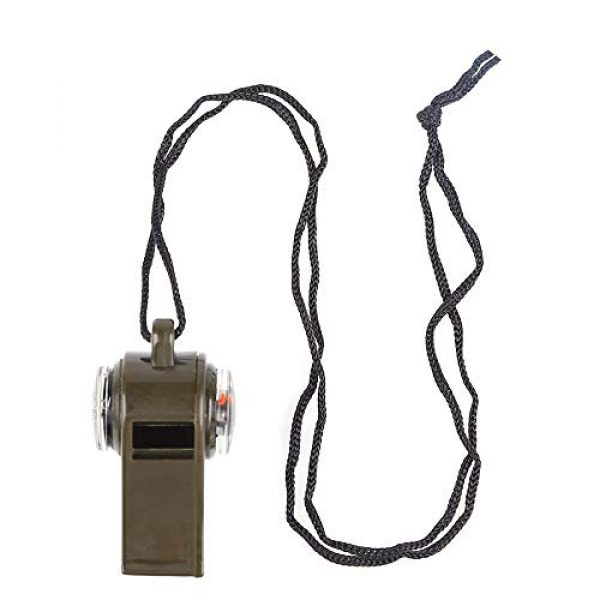 TTSAM Survival Whistle 5 TTSAM Emergency Whistle with Lanyard, Multi-Functional 3 in1 Survival Gear Compass Thermometer for Outdoor Camping Hiking