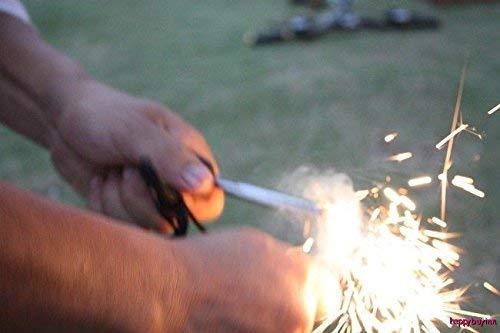uniqwardrobe  3 uniqwardrobe Survival Magnesium Flint Stone Fire Starter Lighter Kit
