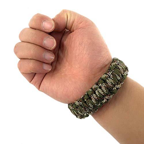 Hewnda  5 Hewnda 4Pack Paracord Survival Bracelet with Stainless Steel Black U Shackle
